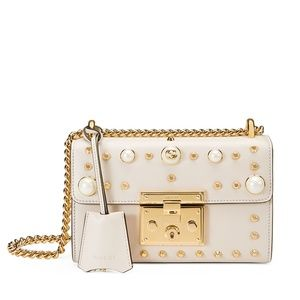 Gucci Padlock Small Studded Leather Shoulder Bag